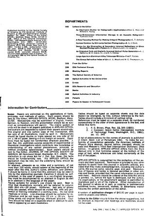 Applied Optics PDF