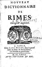 Nouveau dictionnaire de rimes