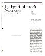 The Print Collector's Newsletter