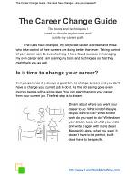 The Career Change Guide