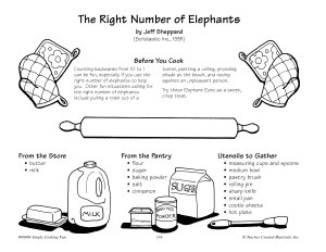 The Right Number Of Elephants Elephant Ears Recipe Book PDF