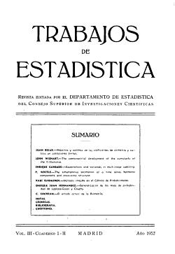 Trabajos de Estad  stica Y de Investigacion Operativa PDF