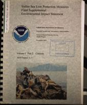 Steller Sea Lion Protection Measures: Environmental Impact Statement, Volume 1, Part 2