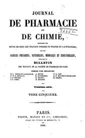 Journal de pharmacie et de chimie: Volumes 5 à 6