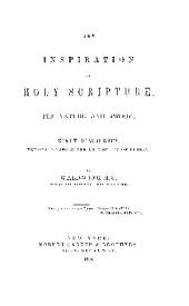 THE INSPIRATION OF HOLY SCRIPTURE