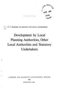Development by Local Planning Authorities  Other Local Authorities and Statutory Undertakers PDF