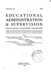 Educational Administration & Supervision: Volume 8