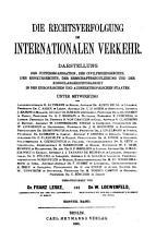 Rechtsverfolgung im internationalen Verkehr PDF