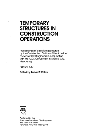 Temporary Structures in Construction Operations PDF