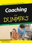 Coaching f  r Dummies PDF