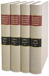 Commentaries on the Laws of England: In Four Books, Book 1