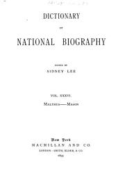 Dictionary of National Biography: Volume 36