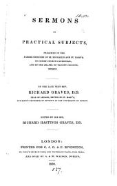 Sermons on practical subjects, ed. by R.H. Graves