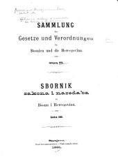 Sammlung der Gesetze und Verordnungen fr Bosnien und die Hercegovina: Zbornik zakona i naredaba za Bosnu i Hercegovinu
