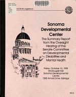 Oversight Hearing on Sonoma Developmental Center PDF