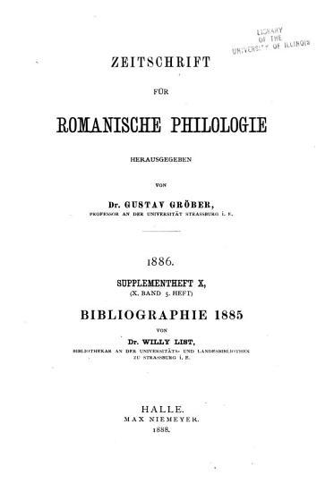 Romanische Bibliographie PDF