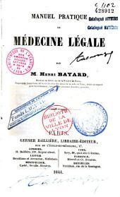 Manuel pratique de médecine légale
