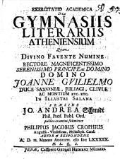 De gymnasiis literariis Atheniensium