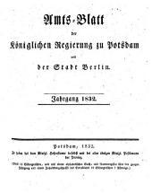 Amtsblatt der Regierung in Potsdam: 1832