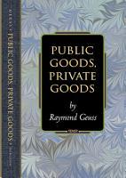 Public Goods  Private Goods PDF