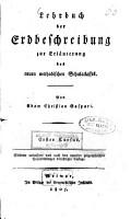 Lehrbuch der Erdbeschreibung zur Erl  uterung des neuen methodischen Schulatlasses PDF