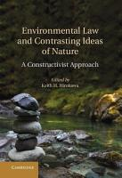 Environmental Law and Contrasting Ideas of Nature PDF