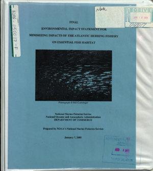 Minimizing Impacts of the Atlantic Herring Fishery on Essential Fish Habitat PDF