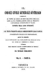 Il Codice Civille Generale Austriaco