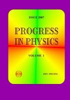 Progress in Physics  vol  1 2007 PDF