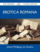Erotica Romana   The Original Classic Edition PDF