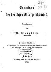 Sammlung der Deutschen Strafgesetzbücher: Band 3