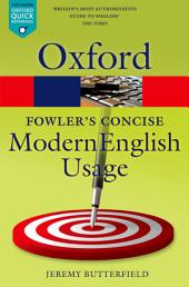 Fowler's Concise Dictionary of Modern English Usage: Edition 3