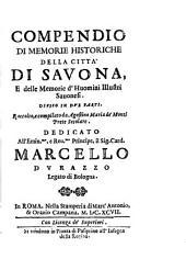 Compendio di memorie historiche della città di Savona