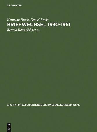 Briefwechsel 1930 1951 PDF