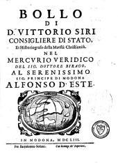 Bollo di D. Vittorio Siri nel Mercurio veridico del Dottore Birago