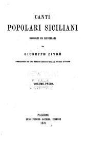 Canti popolari siciliani: Volume 1