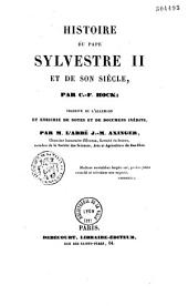 Histoire du pape Sylvestre II et de son siècle