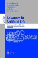 Advances in Artificial Life PDF