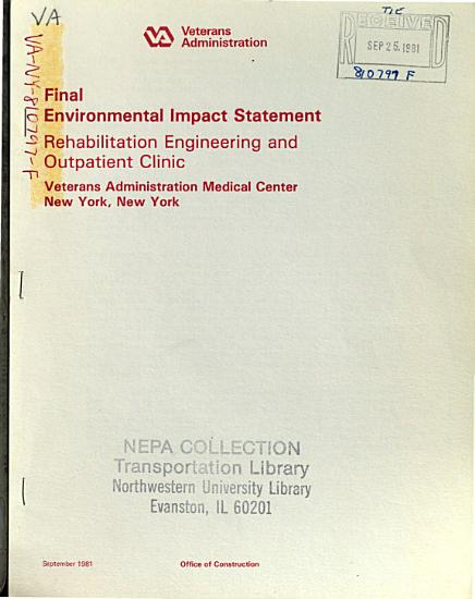 VA Medical Center  Rehabilitation Engineering and Outpatient Clinic  New York PDF