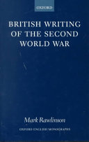British Writing of the Second World War PDF