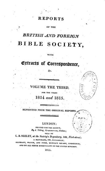 Reports of the British and Foreign Bible Society PDF