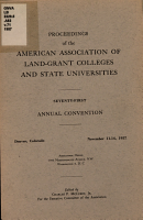 Proceedings of the American Association of Land Grant Colleges and State Universities PDF