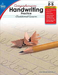 Comprehensive Handwriting Practice  Traditional Cursive  Grades 2   5 Book