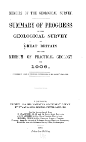Summary of Progress of the Geological Survey ... and Museum of Practical Geology