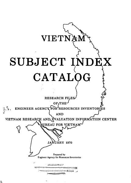 Download Vietnam Subject Index Catalog Book