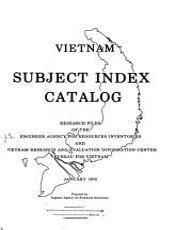 Vietnam Subject Index Catalog PDF