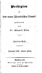 Sammlung der neuesten Predigten: gehalten in dem neuen israelitischen Tempel zu Hamburg, Band 3