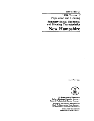 Census of Population and Housing  1990   Summary Social  Economic  and Housing Characteristics New Hampshire PDF