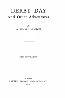 Derby Day and Other Adventures PDF