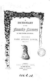 Patronymica Britannica, a dictionary of the family names of the United Kingdom